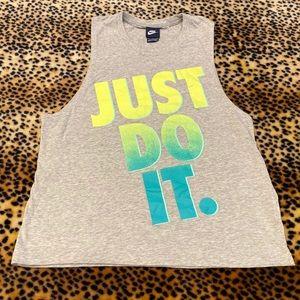 Nike Just Do It Sleeveless Shirt Tank Top Grey S